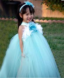 Adores Flower Tutu Dress - Blue