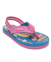 Barbie Flip Flop With Back Strap - Pink & Sea Green