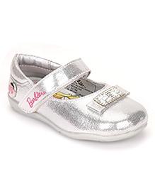 Barbie Ballerina Shoes Embellished Design - Silver