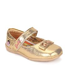 Barbie Ballerina Shoes Embellished Design - Gold