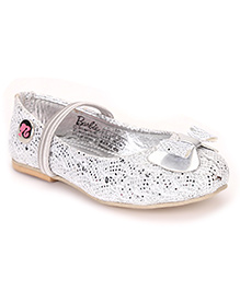 Barbie Ballerina Shoes Bow Design - Silver