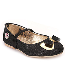 Barbie Ballerina Shoes Bow Design - Black & Golden