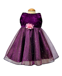 Simply Cute Glitter Net Dress - Purple
