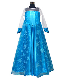 Simply Cute Printed Skirt Gown - Blue