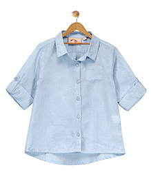 Budding Bees Smart Button Up Shirt - Blue