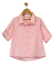 Budding Bees Smart Button Up Shirt - Pink