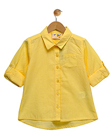 Budding Bees Smart Button Up Shirt - Yellow