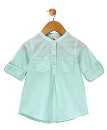 Budding Bees Button Up Shirt - Blue