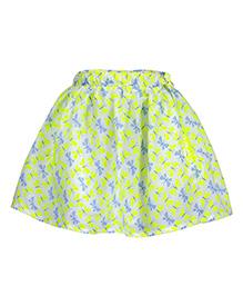 Budding Bees Printed Skirt - Green
