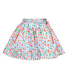 Budding Bees Printed Skirt - Multicolor