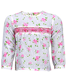 Budding Bees Lovely Floral Top - Pink