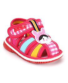 Cute Walk by Babyhug Sandals Cartoon Design - Dark Pink