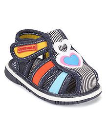 Cute Walk by Babyhug Sandals Heart Design - Navy