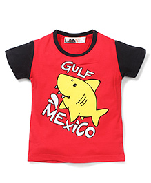 Poly Kids Gulf Mexico Print T-Shirt - Red