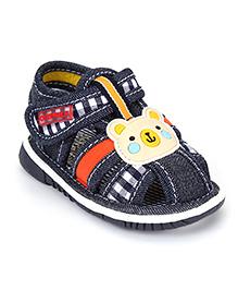 Cute Walk by Babyhug Sandals Bear Design - Navy