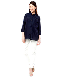 Nine Maternity Nursing Shirt - Navy