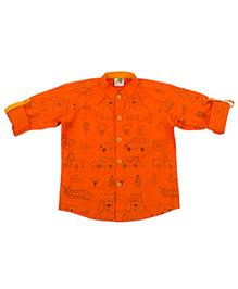 Little Stars Stylish Shirt - Dark Orange