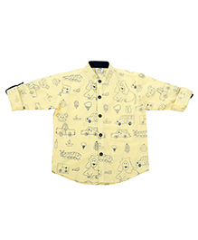 Little Stylish Stars Shirt - Lemon Yellow