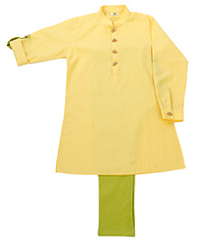 Little Stars Ethnic Kurta & Pyjama Set - Yellow
