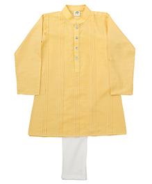 Little Stars Ethnic Kurta & Pyjama Set - Yellow