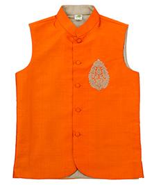 Little Stars Nehru/Modi Jacket - Orange