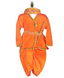 BownBee Kanhaiya Suit Set - Orange