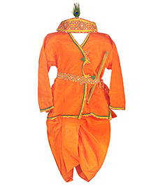 BownBee Kanhaiya Suit Set - Orange