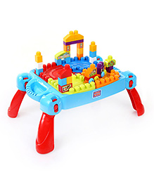 Mega Bloks First Builders Build'n Learn Table 80 Pieces - Multicolor