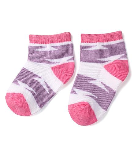 Mustang Ankle Length Socks - Purple