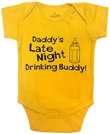 Acute Angle Drinking Buddy Print Romper - Yellow