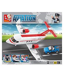 Sluban Lego Private Airplane Construction Sets - White