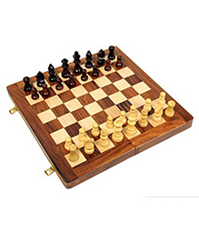 AVM 12 inch Acrylic Folding Wooden Chess Board without Coins 2 inch Chess Board