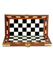 AVM 16 inch Acrylic Folding Wooden Chess Board Without Coins 1.25 inch Chess Board