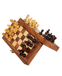 AVM 7 inch Magnetic Folding Chess Set With Coins Chess Board