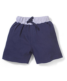 Babyhug Casual Shorts - Blue and Grey