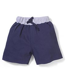 Babyhug Casual Shorts - Blue and Grey