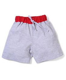 Babyhug Casual Shorts - Grey and Red