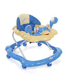 Musical Baby Walker With Play Tray - Blue Light Yellow