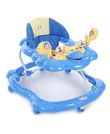 Musical Baby Walker With Play Tray - Light Blue