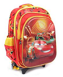 Disney Kids School Bag Trolley - Red