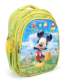 Disney Mickey On School Bag - Green