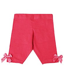 D'chica Capri Leggings With Bow - Red