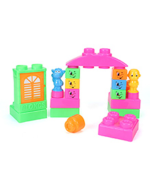 Smiles Creation Intellect Animal Shaped Block Set - Multi Color