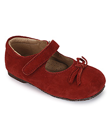 Teddy Toes Mary Jane Shoes - Maroon