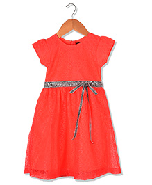 Sequences Beautiful Self Design Party Dress - Orange