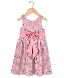 Sequences Beautiful Dress With Satin Bow Detail - Pink