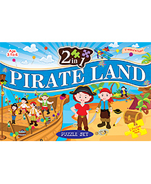 2 In 1 Pirate Land Puzzle Set - 40 Pieces And 96 Pieces