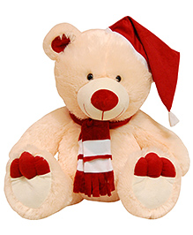 Surbhi Teddy Bear With Cap Soft Toy - Peach