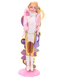Suzi Western Attire Doll Pink Cream - Height 29 cm