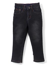 Babyhug Full Length Basic Jeans -  Black